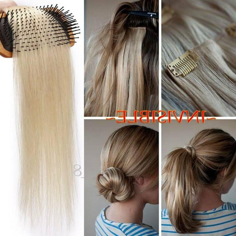8A Bleach White Clip In Hair Extensions Full Head 8PCS