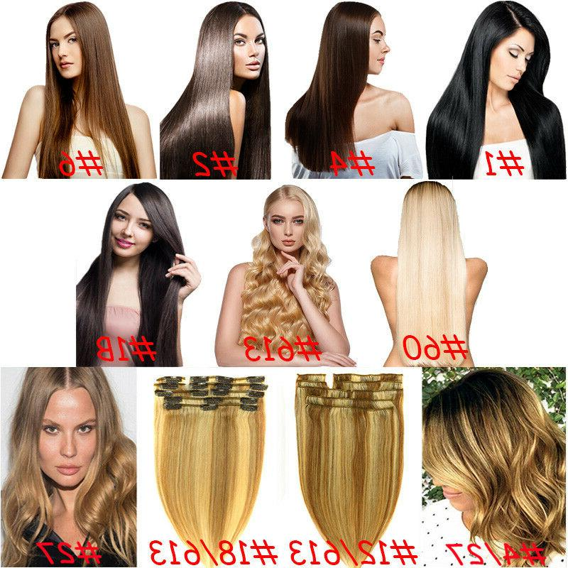 Clip Human Hair Extensions Real Hair Any Weft Head