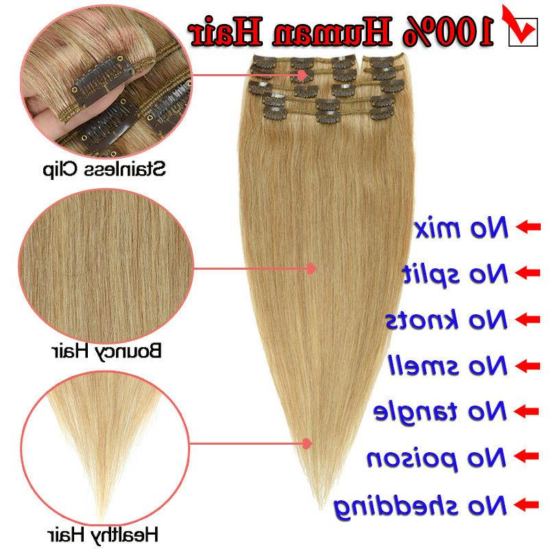 8pcs Clip Extensions Human Hair