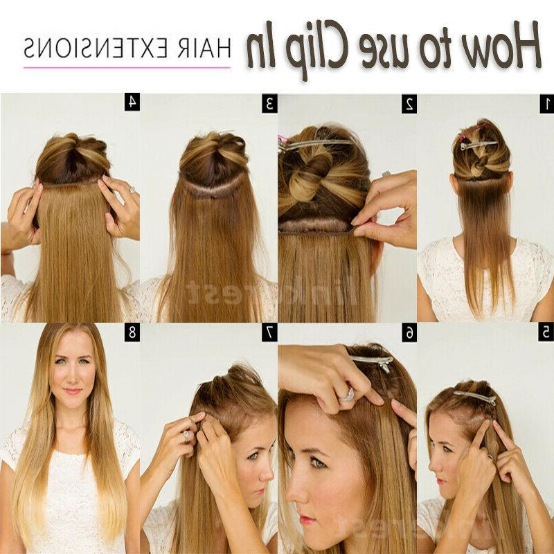 AAAA+ Clip 100% Human Hair Extensions US Stock W260