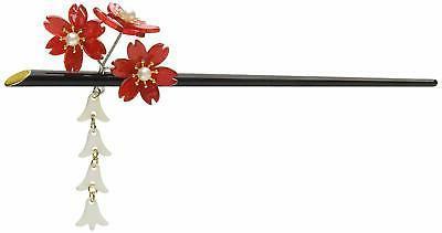 acrylic geisha hair stick with red acrylic