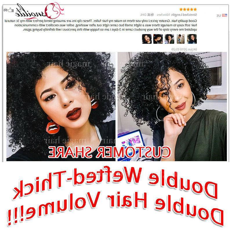 African Afro Hair Clip Virgin Hair US
