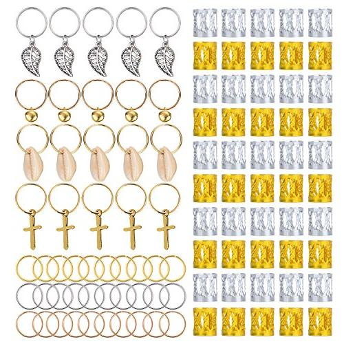 aluminum dreadlocks beads metal cuffs