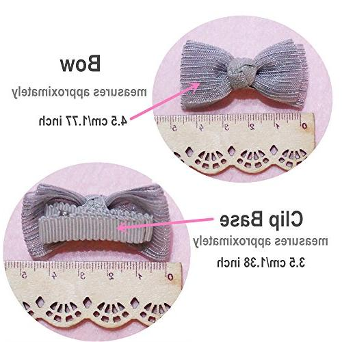 Belle Baby Hair Bows, Ribbon Alligator Toddlers