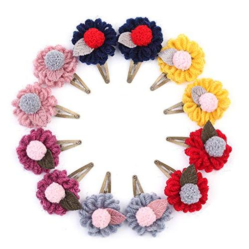 baby girls stylish hair bows snap clips