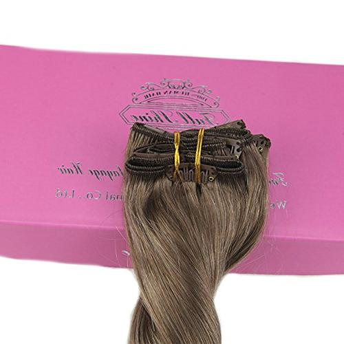 Fshine Pcs Balayage Extensions Real Human Color #60 Hair Balayage Extensions Clip in Human Hair Extensions