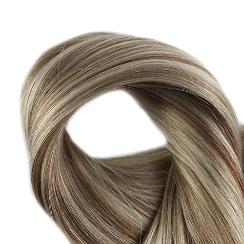 Full Shine in Balayage Extensions Color #10 and #613 Highlighted Human Hair Extensions Clip In Real Hair Pcs Gram