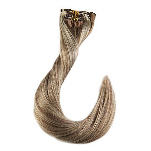 Full 18inch in Color #10 Color #613 Blonde Hair Clip In Real 9 Pcs 120 Gram