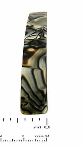 French Bar Handmade Onyx Celluloid Hair Barrette