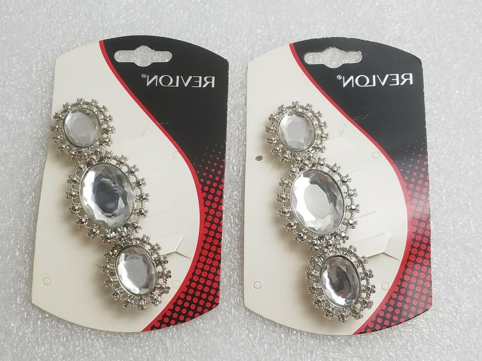 Revlon Barrette Stone Clip Metal Accessory