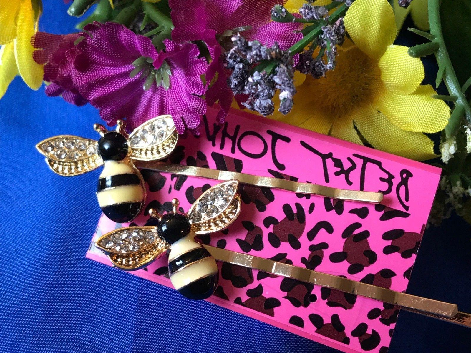Betsey Johnson Women's Cute Honey Bee Flower Hair Clip Pin