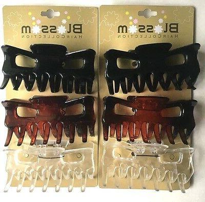 black brown clear medium size hair claw