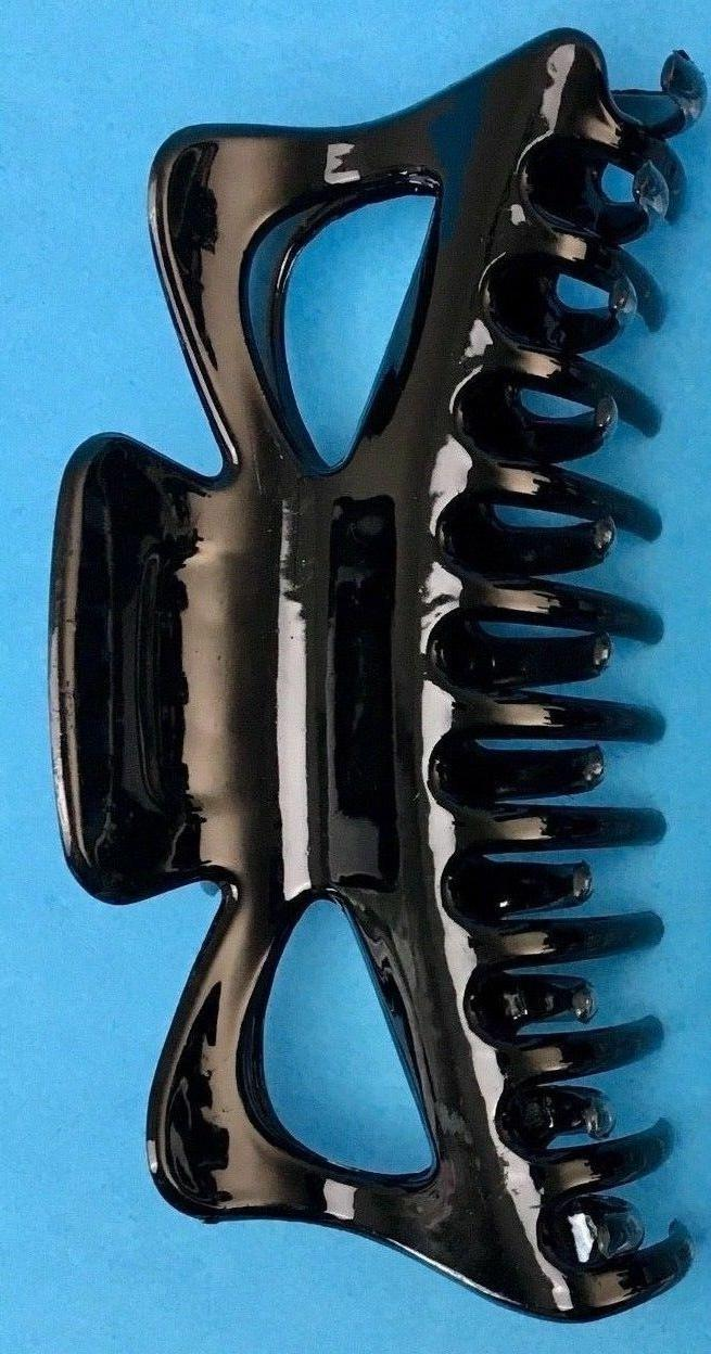 BLACK Extra Hair Jaw Claw 5 1/2 Pack