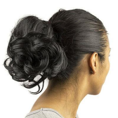 black faux hair extension cheerleader ponytail hair