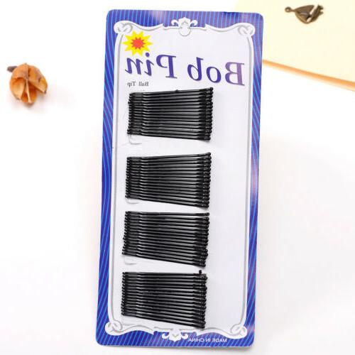 Black Invisible Flat Top Bob Bobby Pins Hairpin Salon Barrette