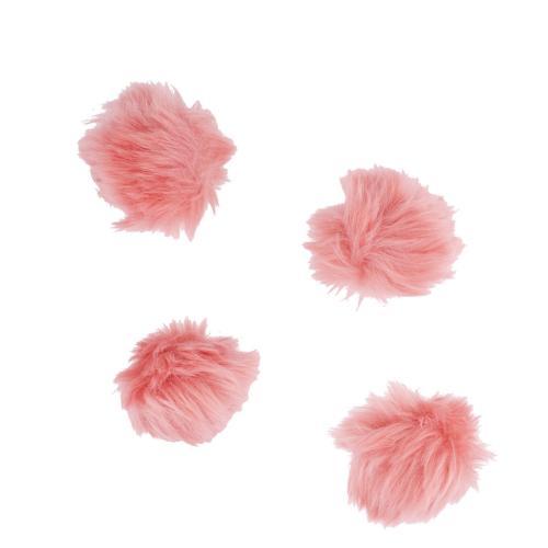 blush baby pink fur breast cancer pom