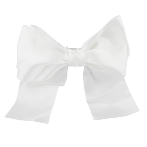 Lux Accessories Bridal Bride White Satin Large Bow Clip Wedd