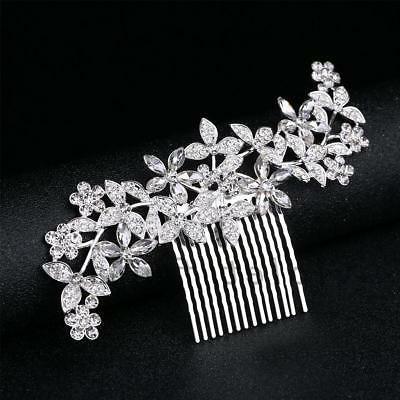 Bridal Hair Comb Jewelry Crystal Rhinestone Hair Clips Combs