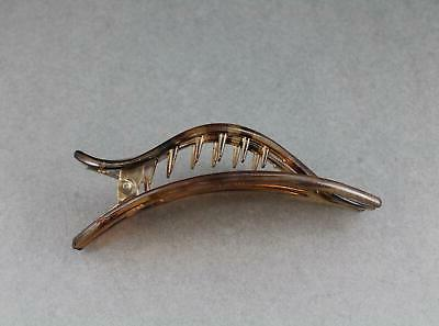 Brown hair clip claw 3 barrette clamp