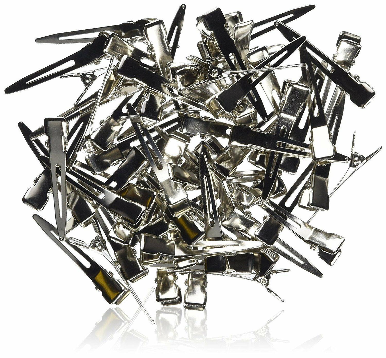 Bulk 100 45mm Silver Metal Bows