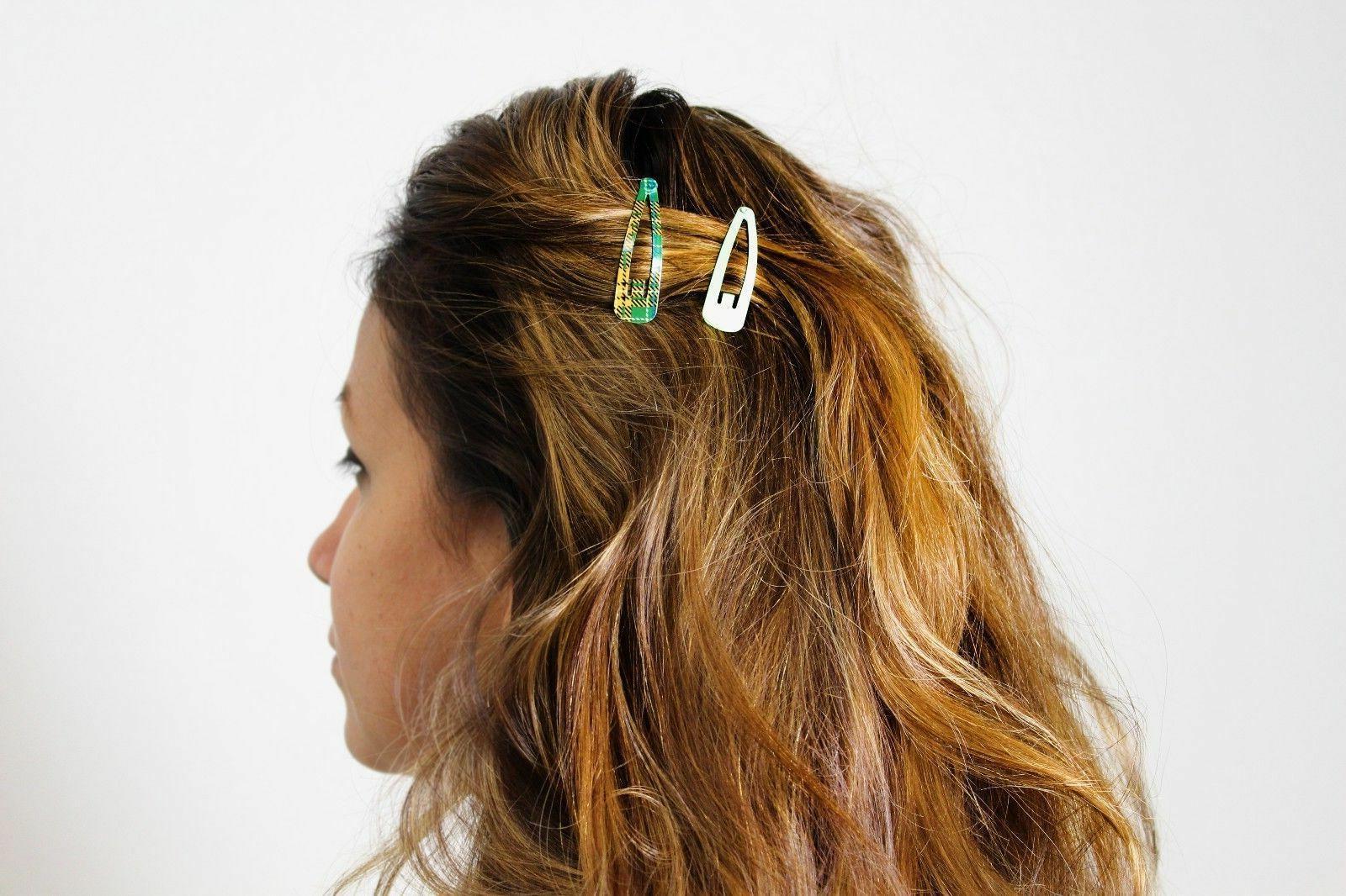 100pc Mixed Barrette Snap Hair Clips Slip Accessory BULK