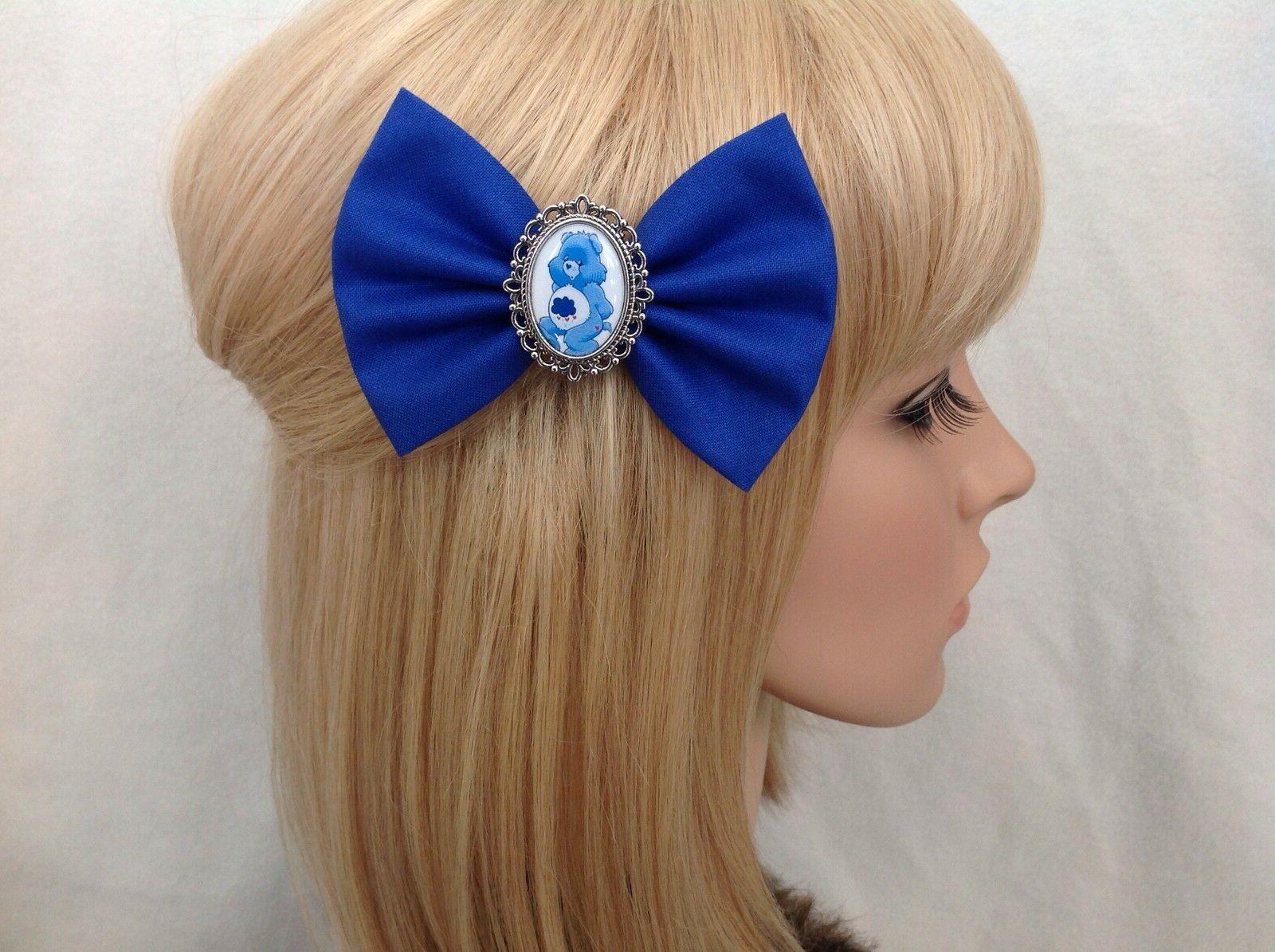 care bears grumpy bear hair bow clip