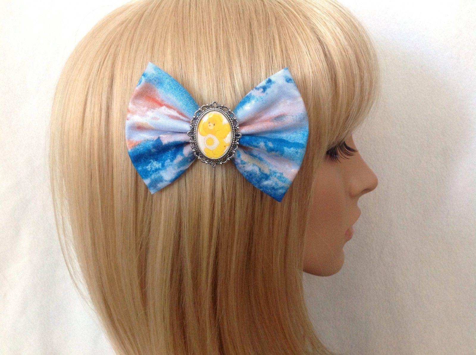 care bears sunshine bear hair bow clip