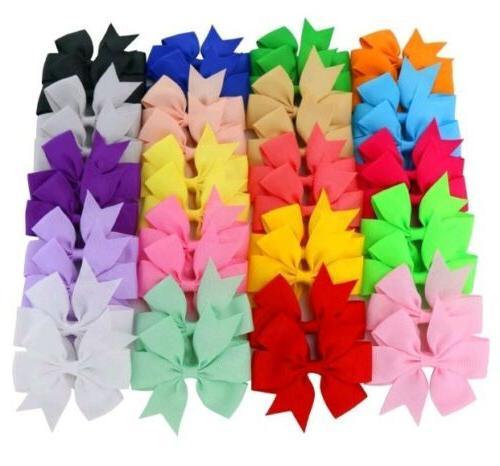 Chiffon 3in Ribbon Hair Clips Baby Girls...