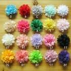 chiffon flower hair clips baby toddler girls