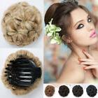 Claw Clip In Hair Bun Curly Hair Piece Chignon Updo Cover Ha