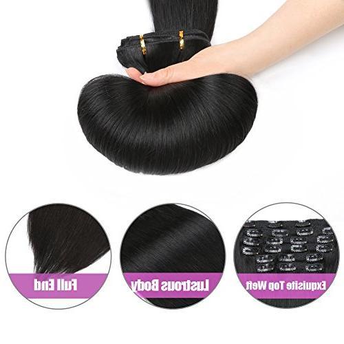 """Natural in Hair Extensions, Re4U 14"""" 110gram pcs 100 Human Black"""