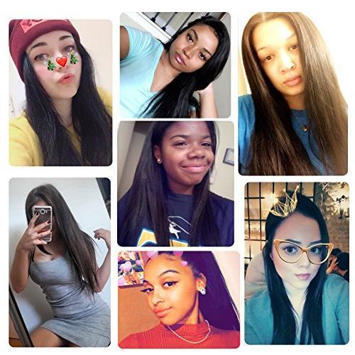 Natural Color Hair Extensions, Re4U pcs Clip Hair Unprocessed #1b Natural 100 Human Hair Black Women