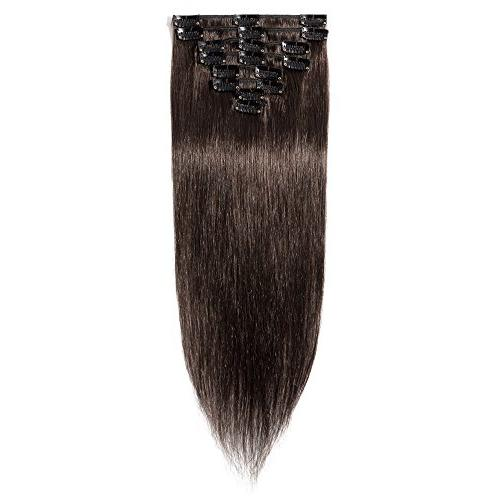 Clip on Hair Extensions 70g 8 Clips Soft Straight Hair Beauty Valentine's Day #2