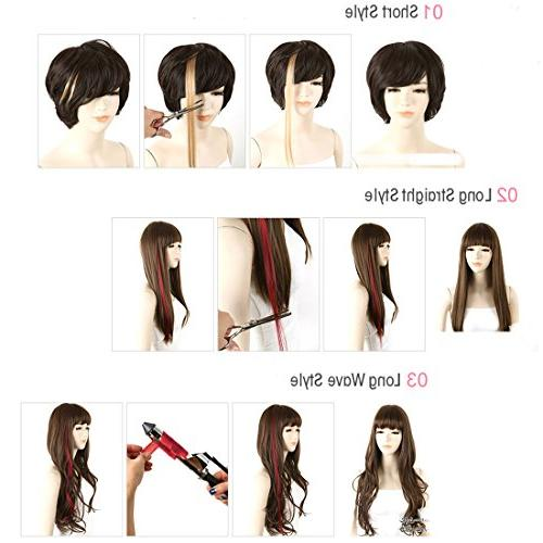 Colored Clip Extensions Kids Highlights Hairpieces Synthetic