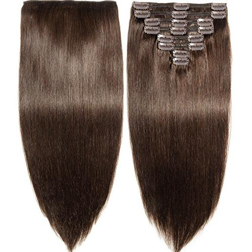 clip human hair extensions real