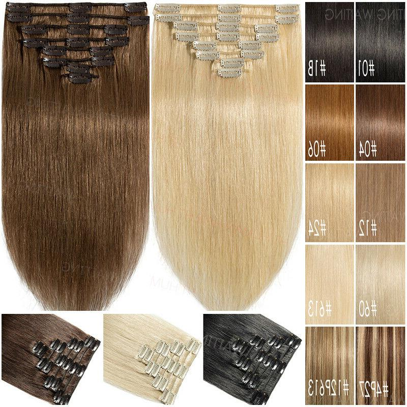clip in 100 percent remy human hair