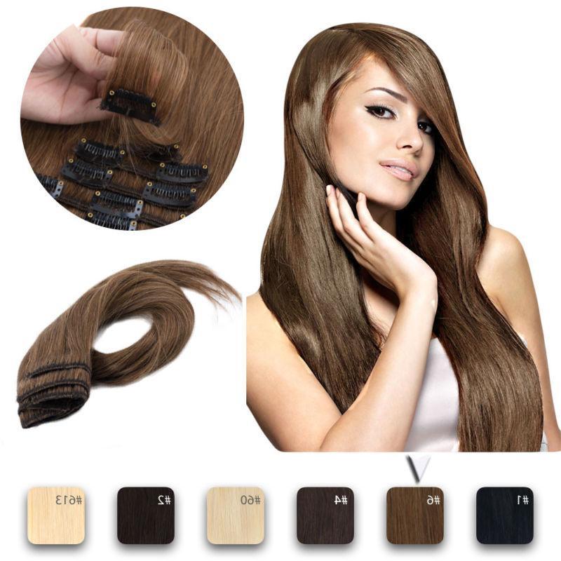 Clip Extensions Head Real Hair Colour