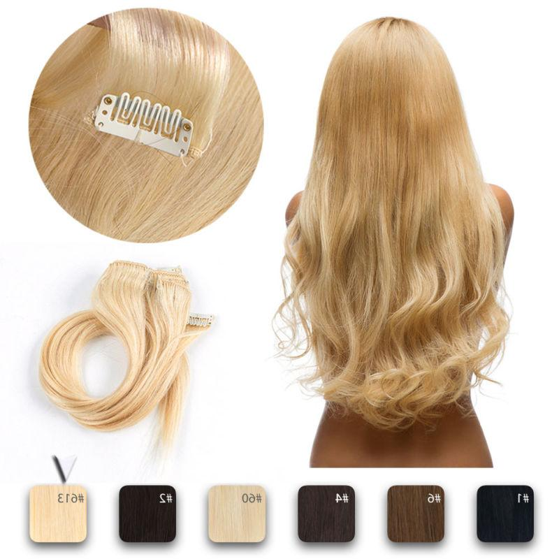 Clip Extensions Full Head 100% Real Remy Hair Colour CLEARANCE