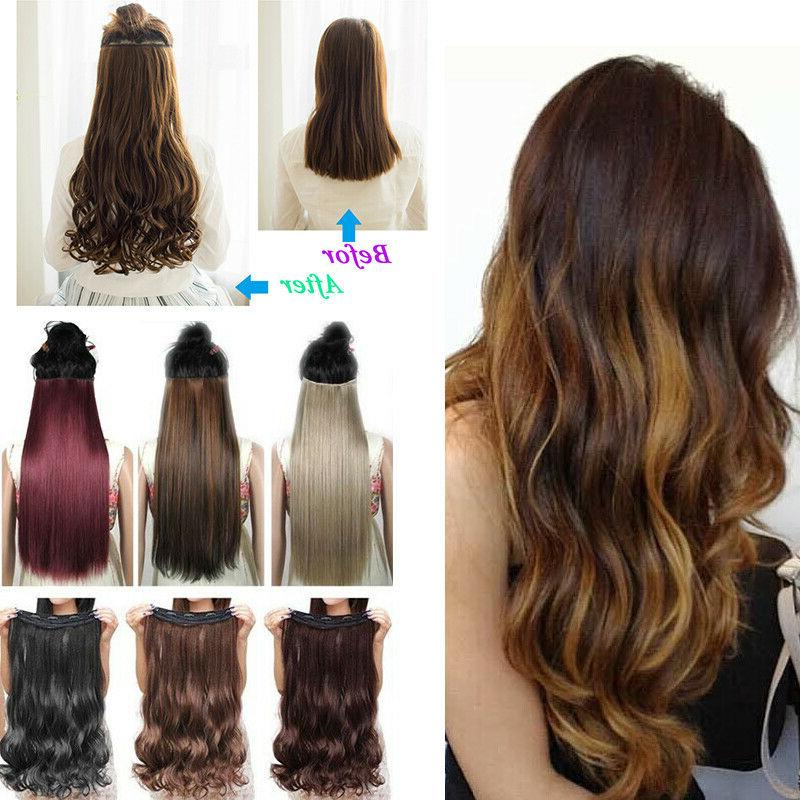 Clip in One Piece 100% Thick as Hair Extension Hair Smooth