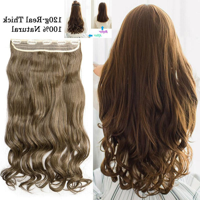 Clip in One 100% as Hair Extension Lady Hair Soft