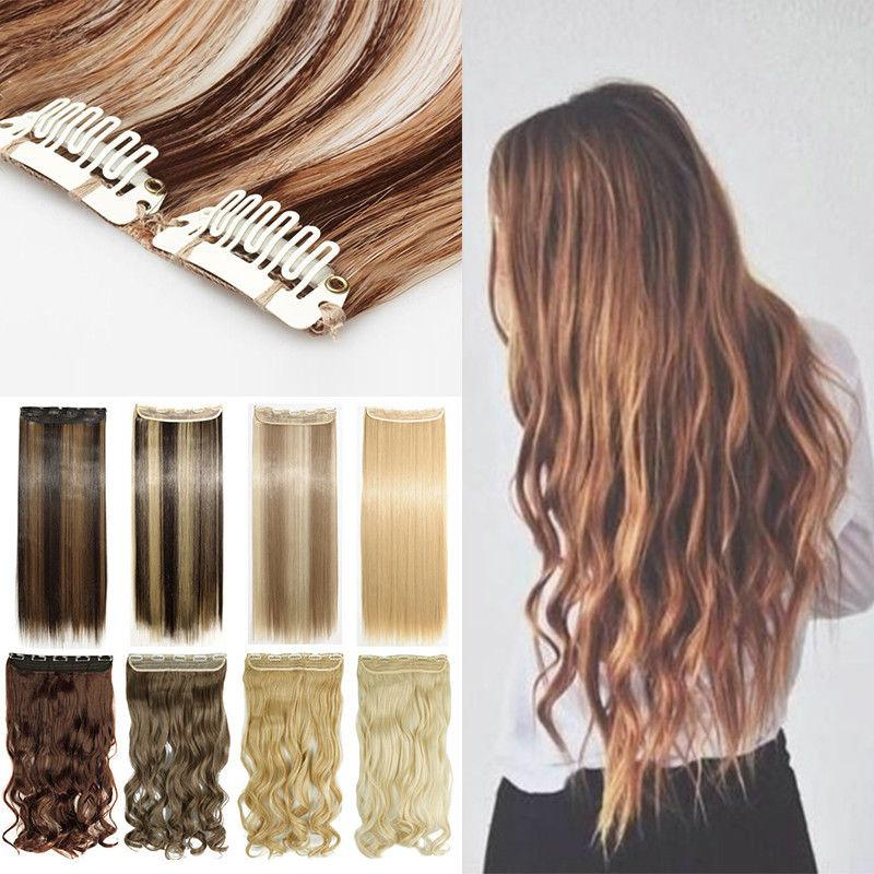 Clip 100% Thick Human Hair Extension Lady Hair Smooth Soft