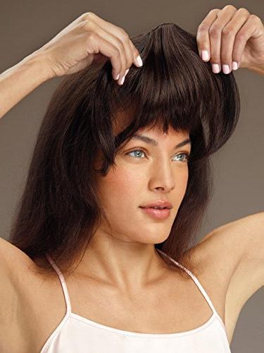 Clip Revlon Clip In Bang Fringe Hairpiece Brown