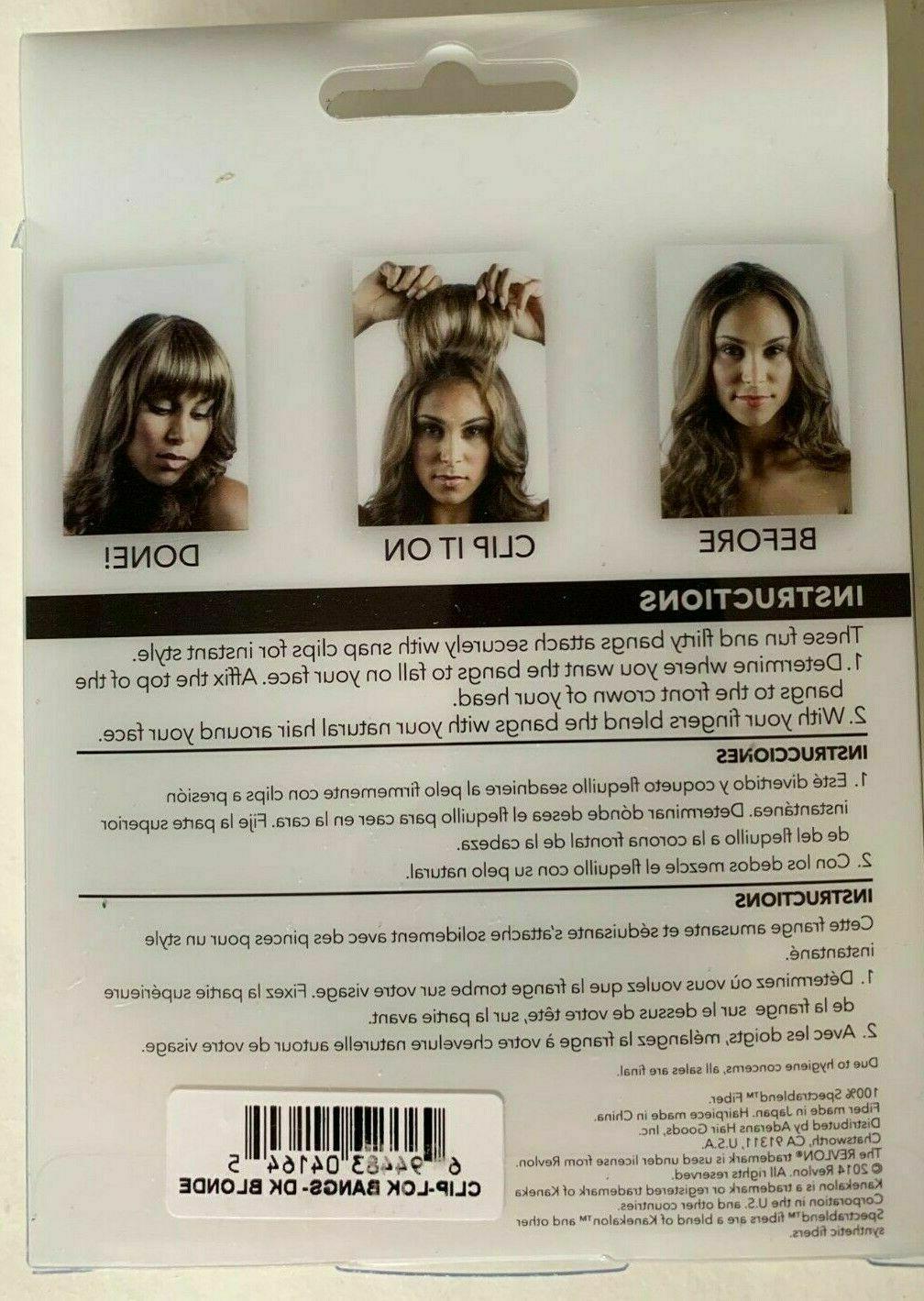 Revlon Clip Lok Hair Extension BROWN Ready
