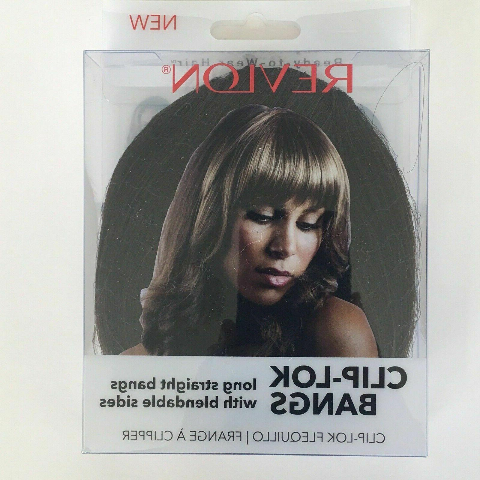 clip lok bangs hair extension medium brown
