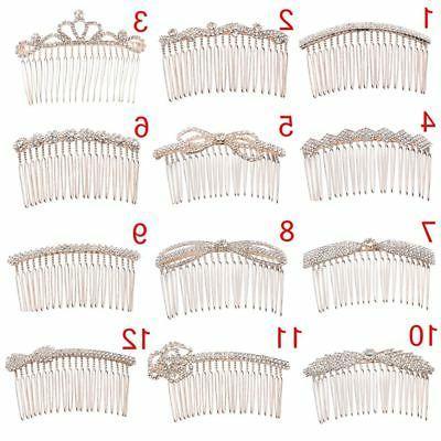 Crown Butterfly Crystal Hair Combs Rhinestone Hair Clips