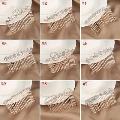 Crown Crystal Hair Love Rhinestone Clips