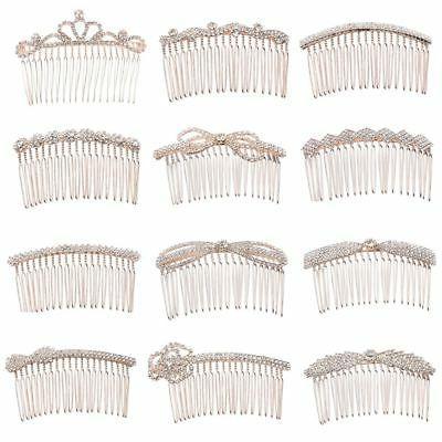 Crown Hairpins Hair Combs Rhinestone Hair