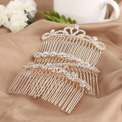 crown butterfly hairpins crystal hair combs love