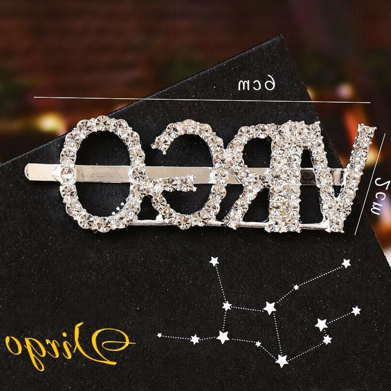 Crystal Constellations Letter Bobby Headwear