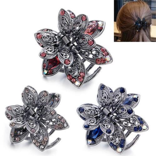 Crystal Hair Clip Rhinestone Hairpin Claw Clamp Wedding Women Hair Accessory LM